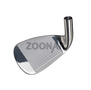 Face of Golf Club Iron Head Isolated on a White Background