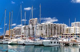 Port of San Antonio de Portmany. Ibiza Island. Balearic Islands. Spain