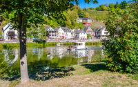 Lahn River with House Boat