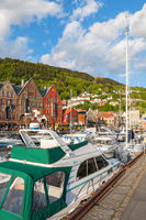 Marina in the city of Bergen, Norway