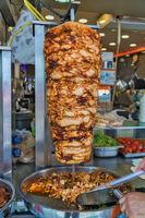 Turkish Food Doner Kebab cuisine - arabic shawarma.