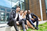 Erfolgreiches multikulturelles Business Team
