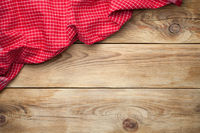 Tablecloth On Wood Background