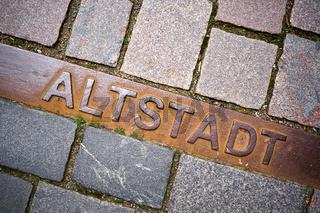 Markierung der historischen Altstadt von Schmalkalden
