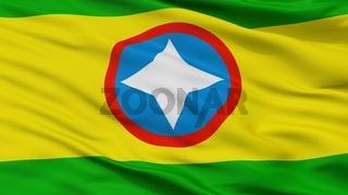 Bucaramanga City Flag, Colombia, Closeup View