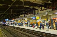 People Paris underground metro station