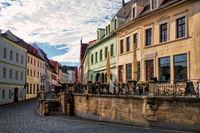sanierte altbauten in wurzen, deutschland