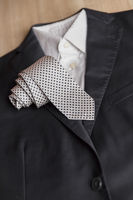 Jacket and tie detail
