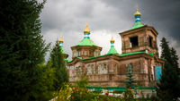 The Russian Orthodox Holy Trinity Cathedral Karakol, Kyrgyzstan