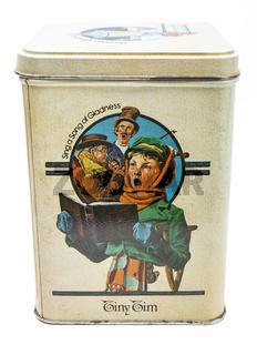 Vintage christmas tea box