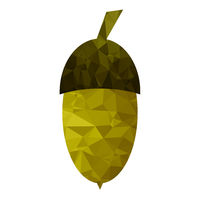 Ripe Acorn Icon. Autumn Oak Nut and Seed Logo