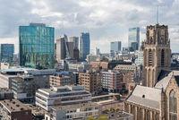 Rotterdam downtown skyline aerial view