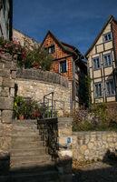 Facades of the german city Quedlinburg