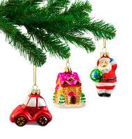 Christmas tree and toys