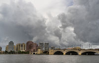 Dramatic Skies Churn Over West Palm Beach as a Storm Passes