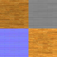 seamless parquet texture bump map diffuse map and normal map for 3d renderings