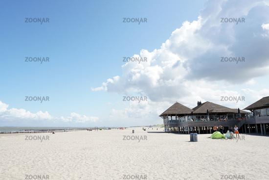 Strandrestaurant am Sandstrand bei Cadzand
