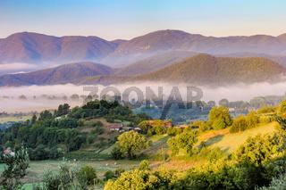 Mist in the valleys