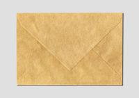 Brown paper enveloppe mockup template