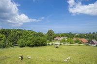 Blick von der slawischen Ringwallanlage in Oldenburg in Holstein
