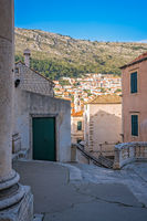 Old historical buildings in Dubrovnik Old Town