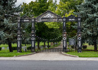Entrance to Mt Hebron Cemetery in Winchester VA