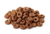 Pile of chocolate cereal rings
