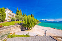 Lago di Garda beach in Sirmione view
