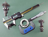 measurement of the details by a digital caliper and a mechanical micrometer