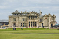 Andrews Clubhouse and Golf Course of the Royal  Ancient where golf was founded in 1754, considered by many to be the