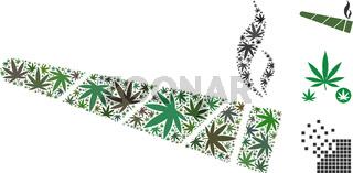 Cannabis Cigarette Collage of Cannabis