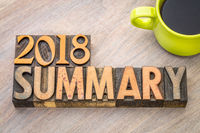 2018 summary word abstract in wood type