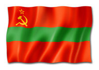Transnistria flag isolated on white