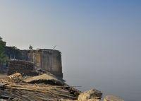 Mahim Fort in Mahim in Mumbai, Maharashtra. Overlooks Worli to the south, Bandra to the north and Mahim to the east. Currently in ruins.