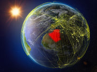 Algeria on Earth with network