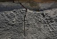 House foundation crack