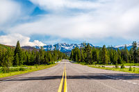Road from Yellowstone to Grand Teton