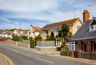 The street of Lyme Regis. West Dorset. England