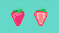 Strawberry Banner Vector