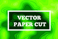 Vector paper cut background. Abstract origami wave design. Topographic illustration