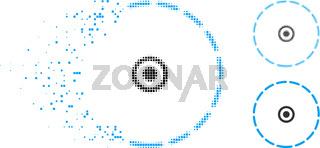 Dispersed Dot Halftone Round Area Icon