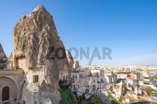Cappadocia skyline in Goreme, Turkey