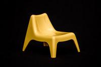 Decorative Yellow Miniature Modern Plastic Chair