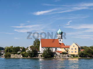 Kirche in Wasserburg am Bodensee, Deutschland