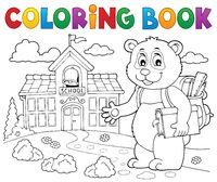 Coloring book school panda theme 2