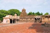 Subrahmanyam shrine, Brihadisvara Temple complex, Tanjore, Tamil Nadu. View from South West.