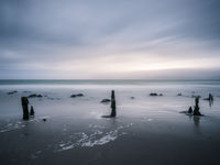 Long exposure at rossbeigh beach in county kerry ireland