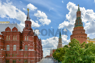 Entrance to the old and famous Red Square in Moscow
