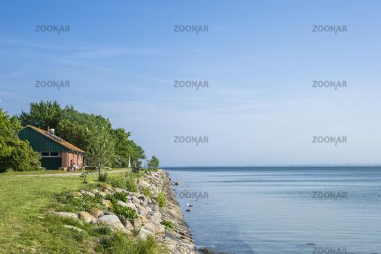 Hafen und Bucht Orther Reede in Orth auf der Insel Fehmarn