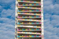 modern skyscraper building, apartment - real estate exterior